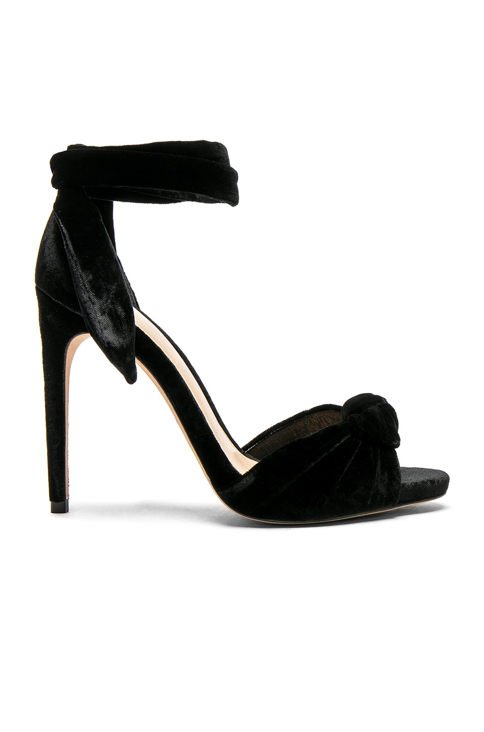 Image 1 of Alexandre Birman Velvet Jessica Heels in Black
