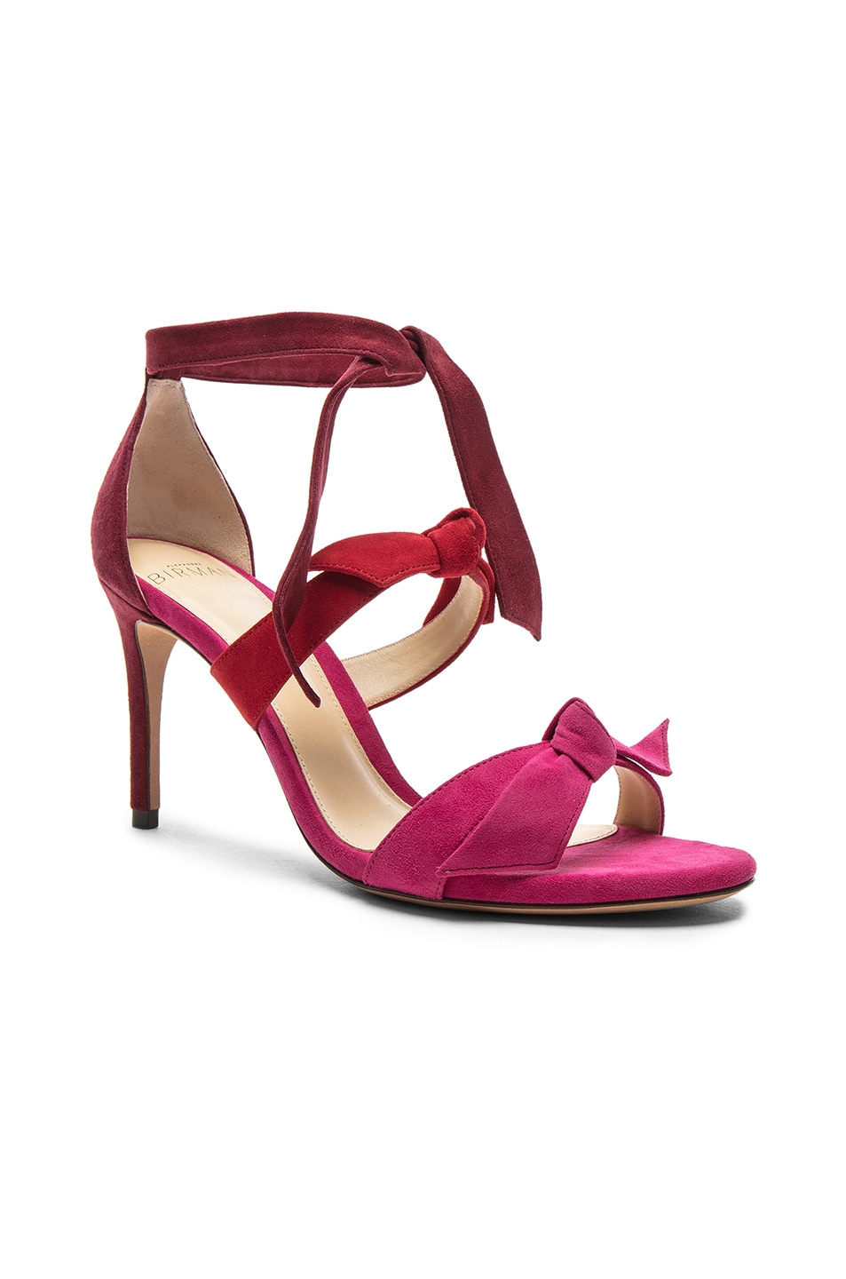 d3be6915b62 Image 2 of Alexandre Birman Suede Lolita Heels in Raspberry