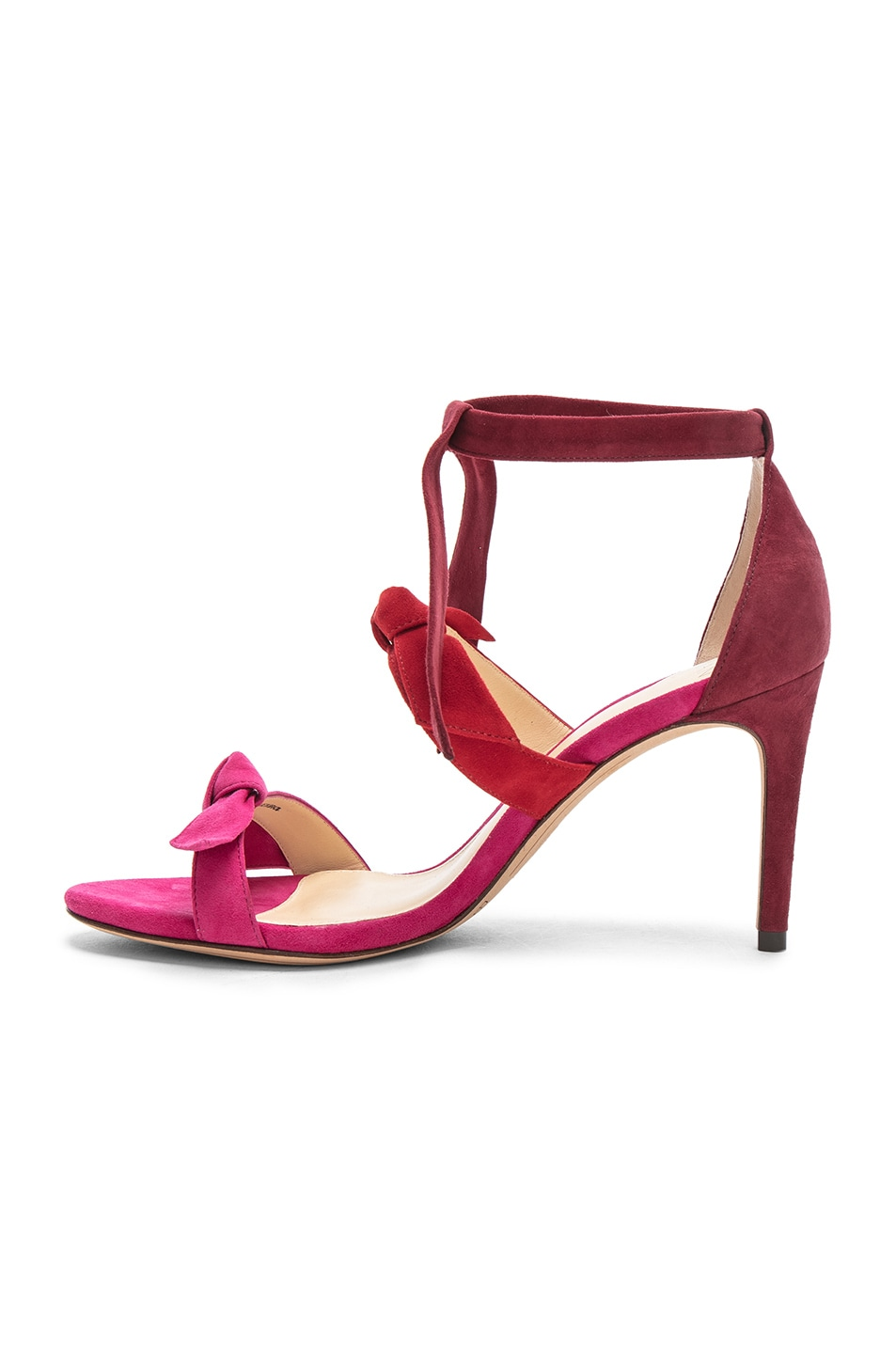 ALEXANDRE BIRMAN Suede Lolita Heels in Raspberry Flame & Rosewood Cheap Price Cost Exclusive Cheap Online Cheap Sale For Cheap DpUEZmj