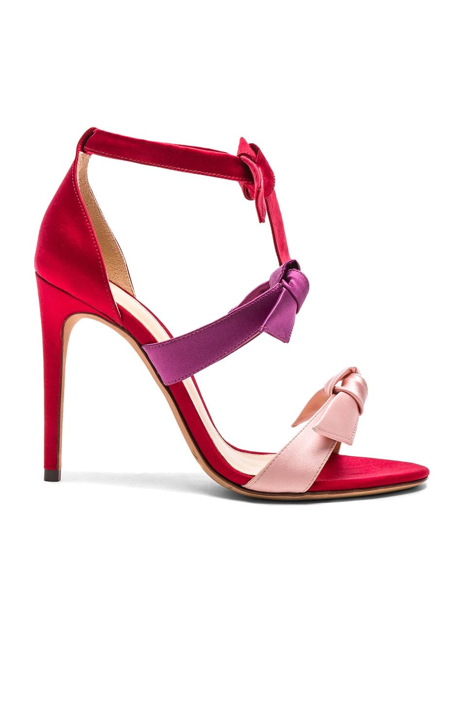 4dfad03a2847 Image 1 of Alexandre Birman Satin Lolita 100 Sandals in Red Multicolor