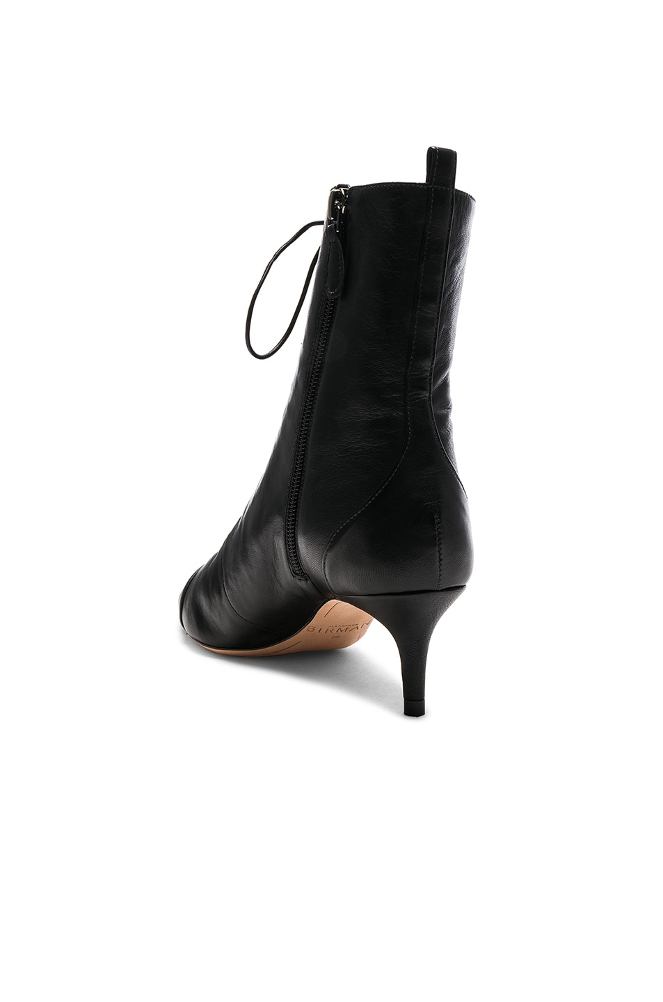 Image 3 of Alexandre Birman Leather Millen Lace Up Ankle Boots in Black
