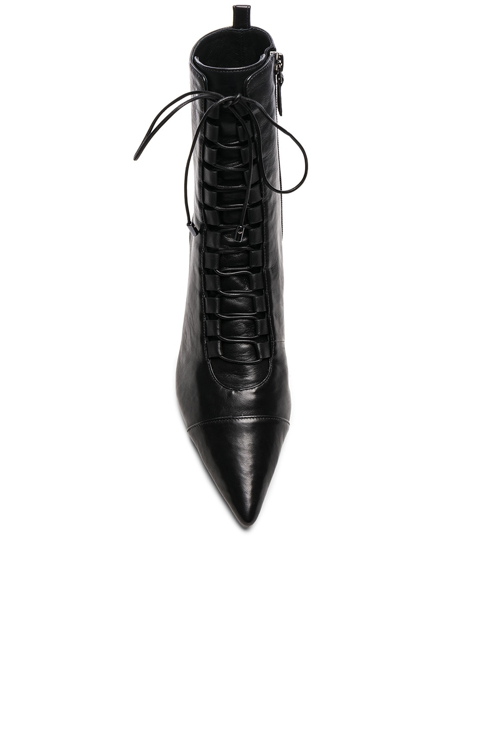 Image 4 of Alexandre Birman Leather Millen Lace Up Ankle Boots in Black