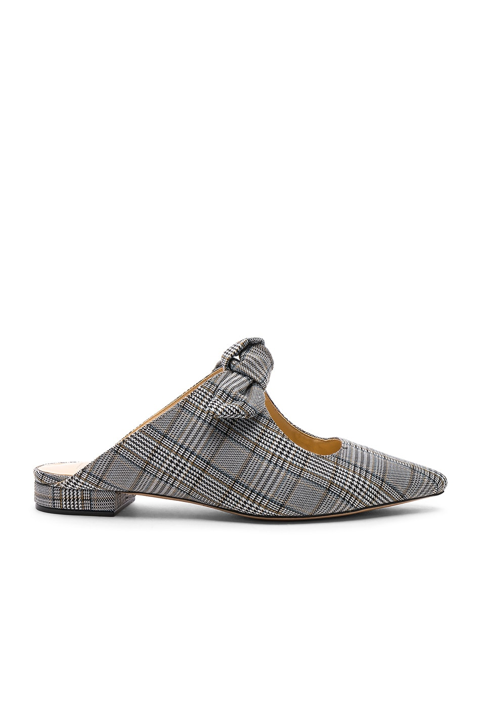 Alexandre Birman Plaid Evelyn Flats Off White new