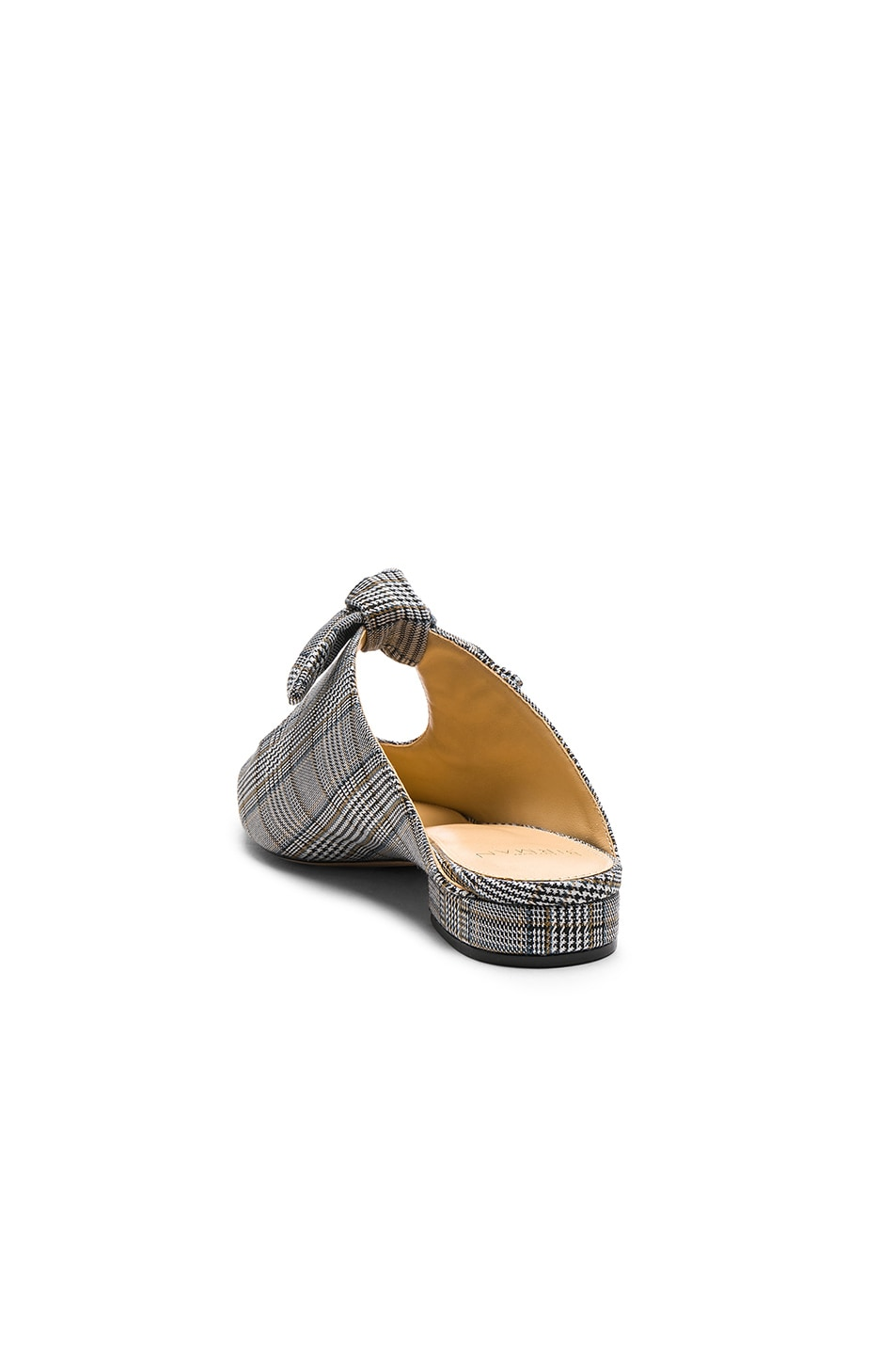 Image 3 of Alexandre Birman Plaid Evelyn Flats in Off White