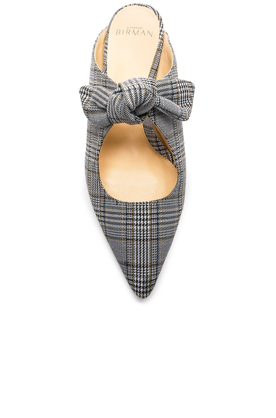 Image 4 of Alexandre Birman Plaid Evelyn Flats in Off White