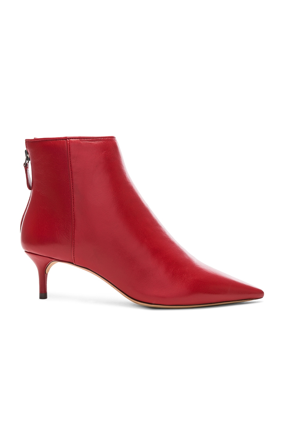 Image 1 of Alexandre Birman Leather Kittie Ankle Boots in Flame