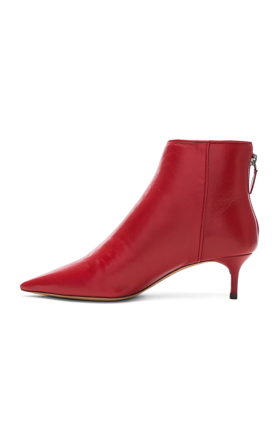 Image 5 of Alexandre Birman Leather Kittie Ankle Boots in Flame