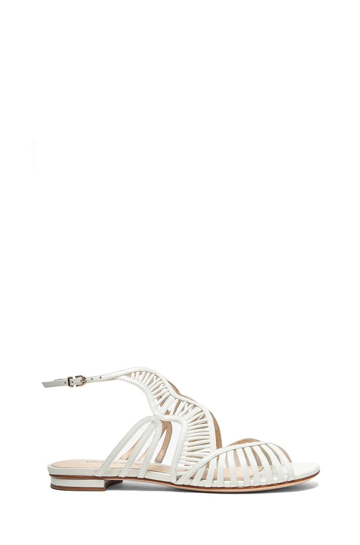 Image 1 of Alexandre Birman Drita Leather Sandals in Off White