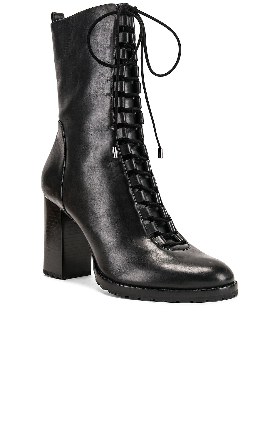 Image 2 of Alexandre Birman Lace Up Combat Boots in Black