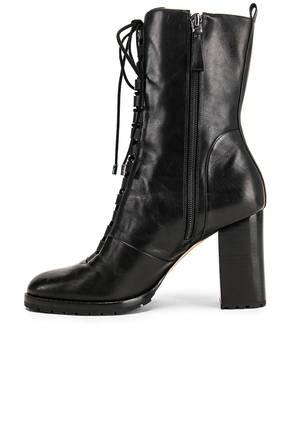 Image 5 of Alexandre Birman Lace Up Combat Boots in Black