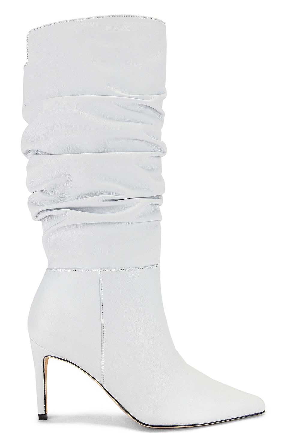 Image 1 of Alexandre Birman Lucy Leather Boots in White