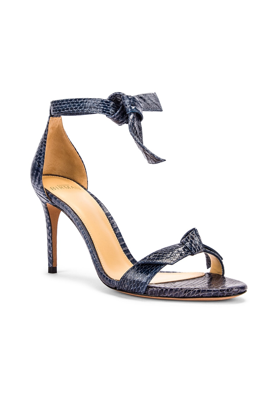 Image 2 of Alexandre Birman Clarita Ankle Strap Sandals in Marine