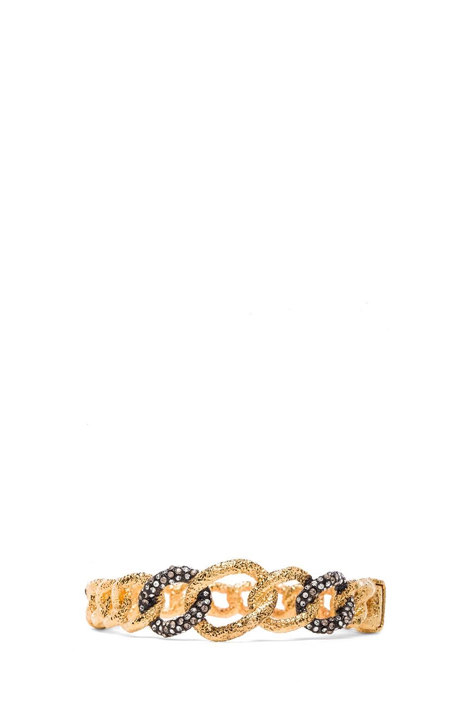 Image 1 of Alexis Bittar Chain Link Hinge Bracelet in Gold