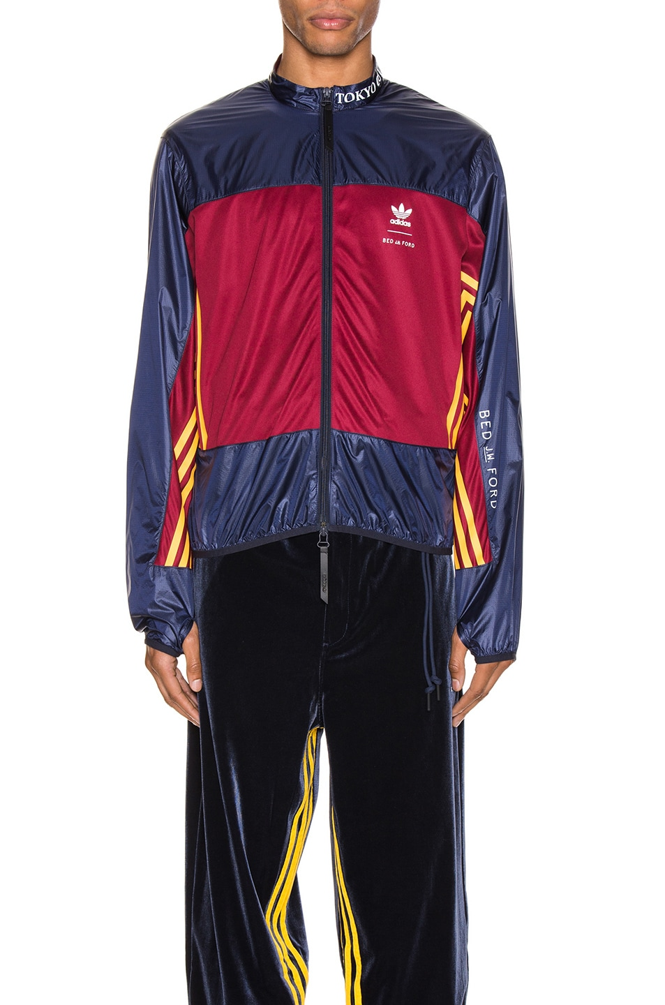 Image 1 of adidas x Bed J.W. Ford Windbreaker BF in Legend Ink F17