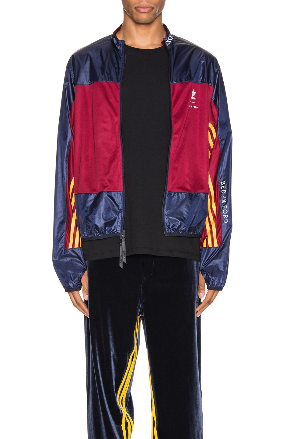 Image 2 of adidas x Bed J.W. Ford Windbreaker BF in Legend Ink F17