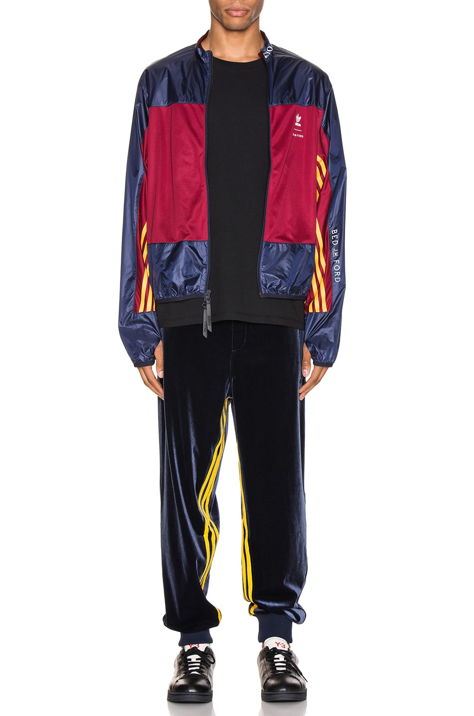 Image 6 of adidas x Bed J.W. Ford Windbreaker BF in Legend Ink F17