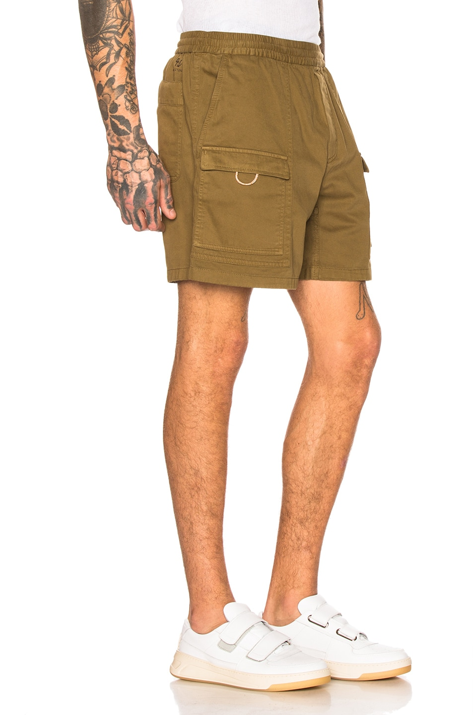 Image 2 of Acne Studios Rosso Shorts in Olive Green