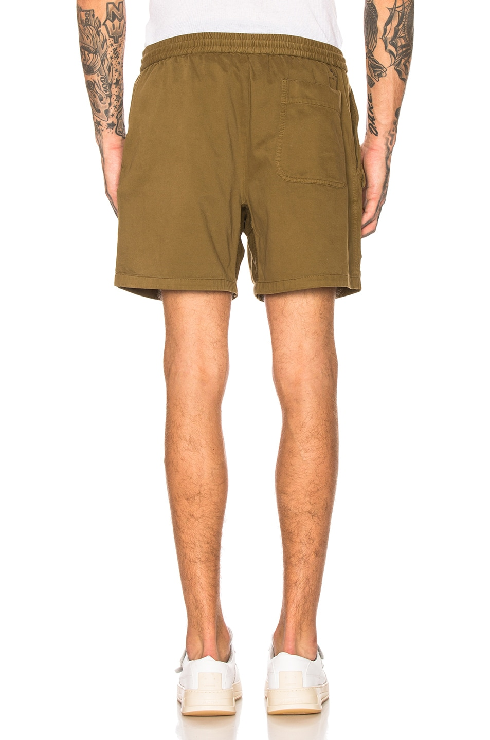 Image 3 of Acne Studios Rosso Shorts in Olive Green