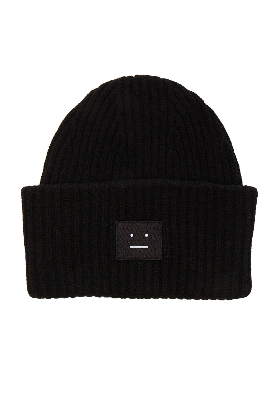 Image 1 of Acne Studios Pansy Beanie in Black