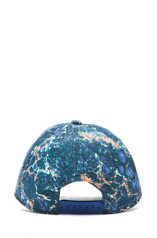 e95ce068670 Image 4 of Acne Studios Camp Print Cap in Blue Marble