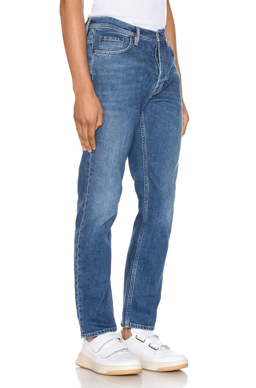 Image 2 of Acne Studios River Mid Blue 5 Pocket Denim Jeans in Length 34