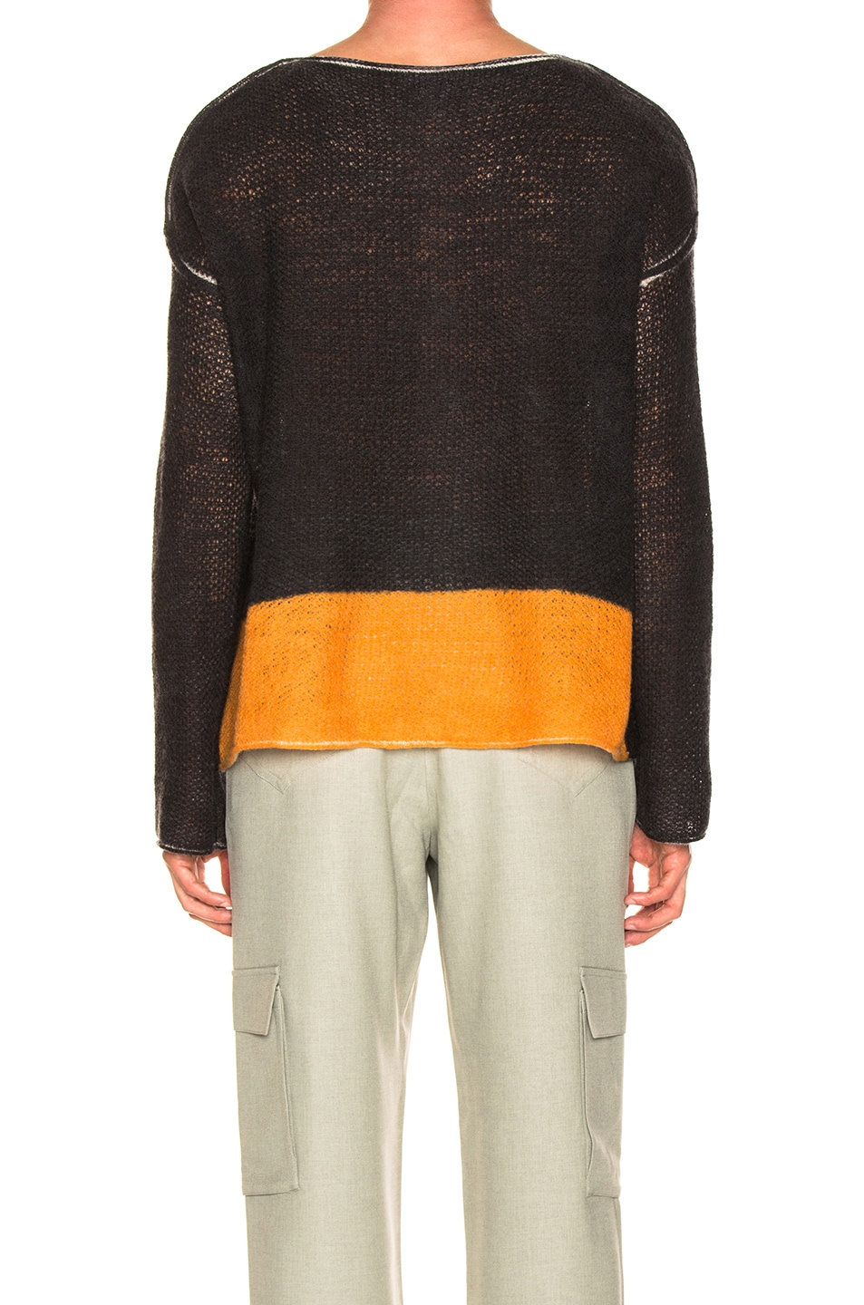 Image 3 of Acne Studios Kameron Wool Lace Print Knit in Black