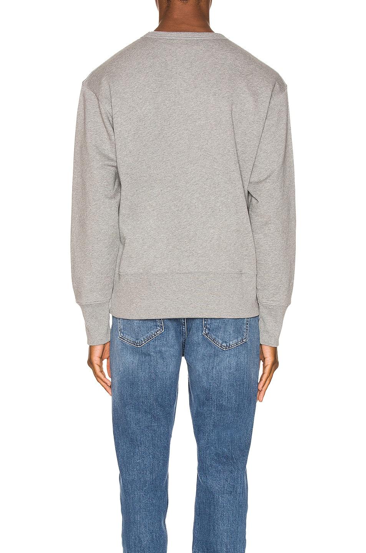 Image 4 of Acne Studios Fayze Logo Sweatshirt in Light Grey Melange
