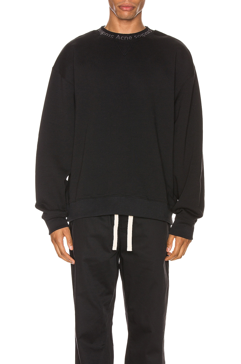 Image 1 of Acne Studios Flogho Sweatshirt in Black