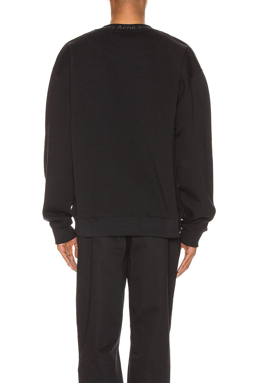 Image 3 of Acne Studios Flogho Sweatshirt in Black