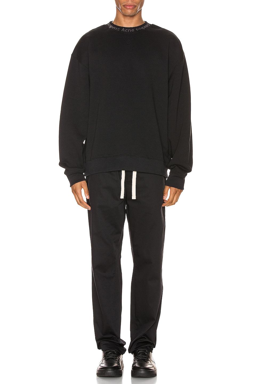 Image 4 of Acne Studios Flogho Sweatshirt in Black