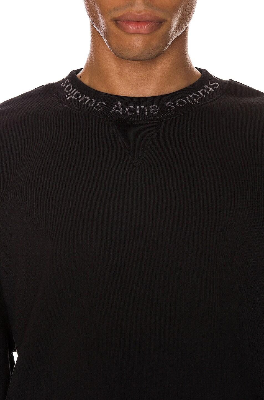 Image 5 of Acne Studios Flogho Sweatshirt in Black