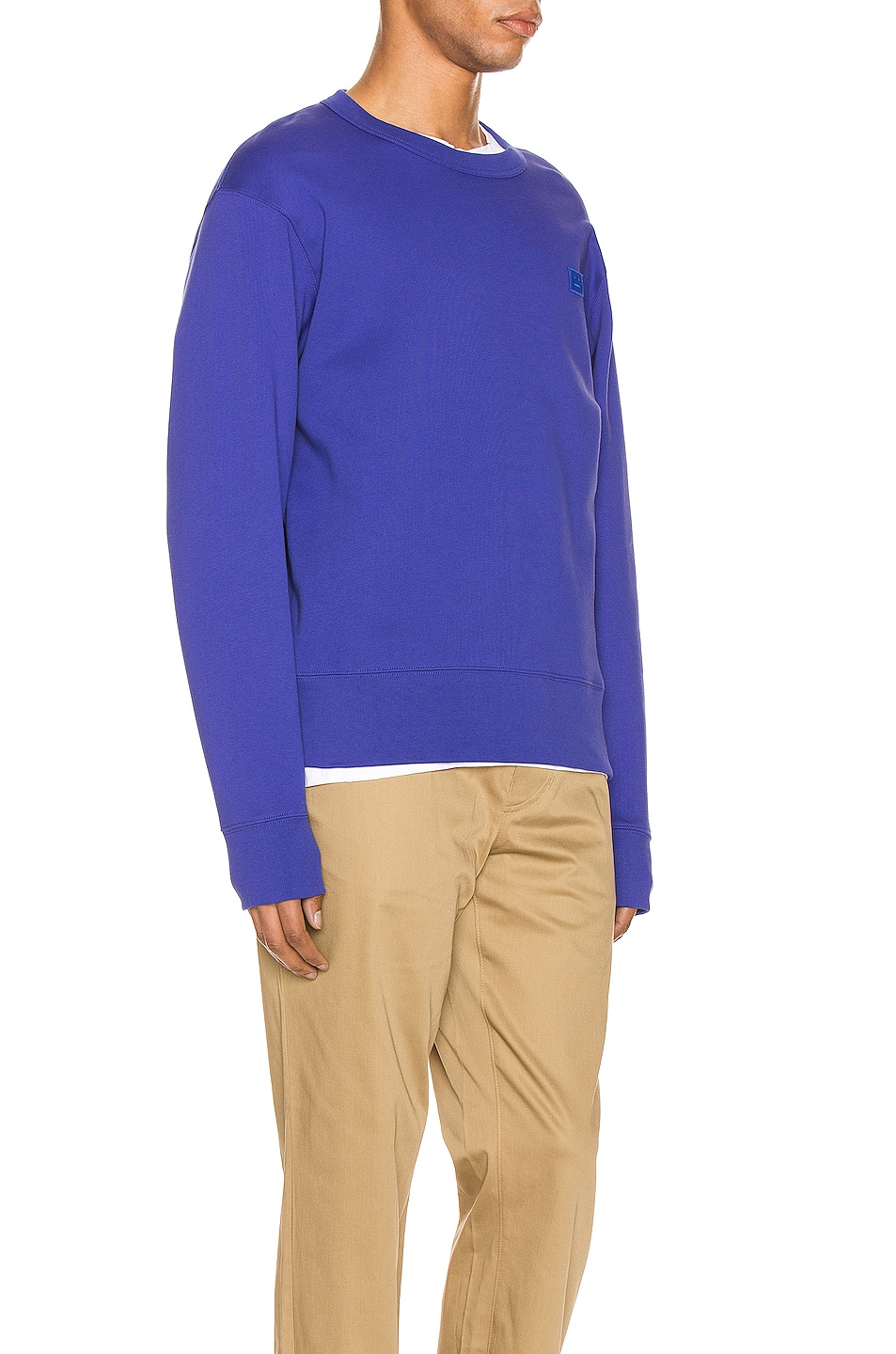 Image 2 of Acne Studios Fairview Face Sweatshirt in Electric Blue