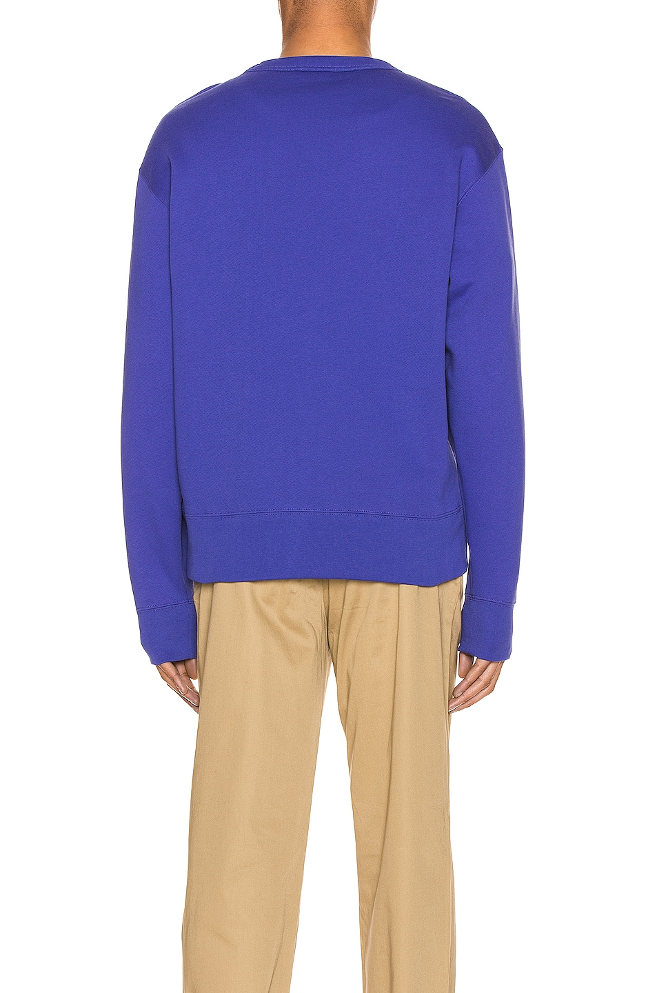Image 3 of Acne Studios Fairview Face Sweatshirt in Electric Blue