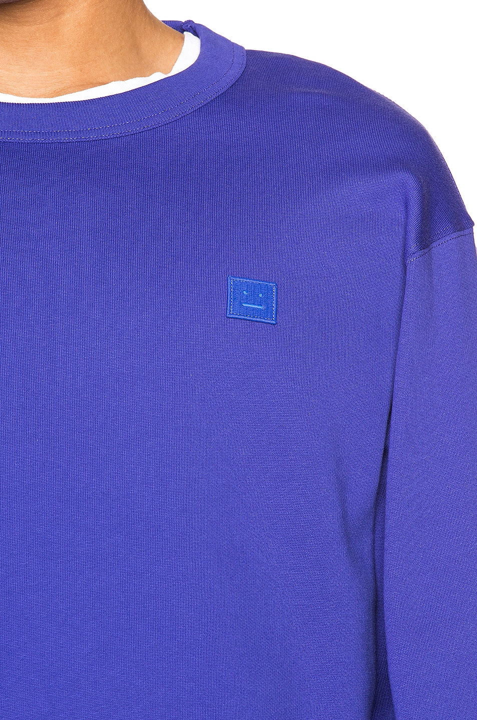 Image 5 of Acne Studios Fairview Face Sweatshirt in Electric Blue