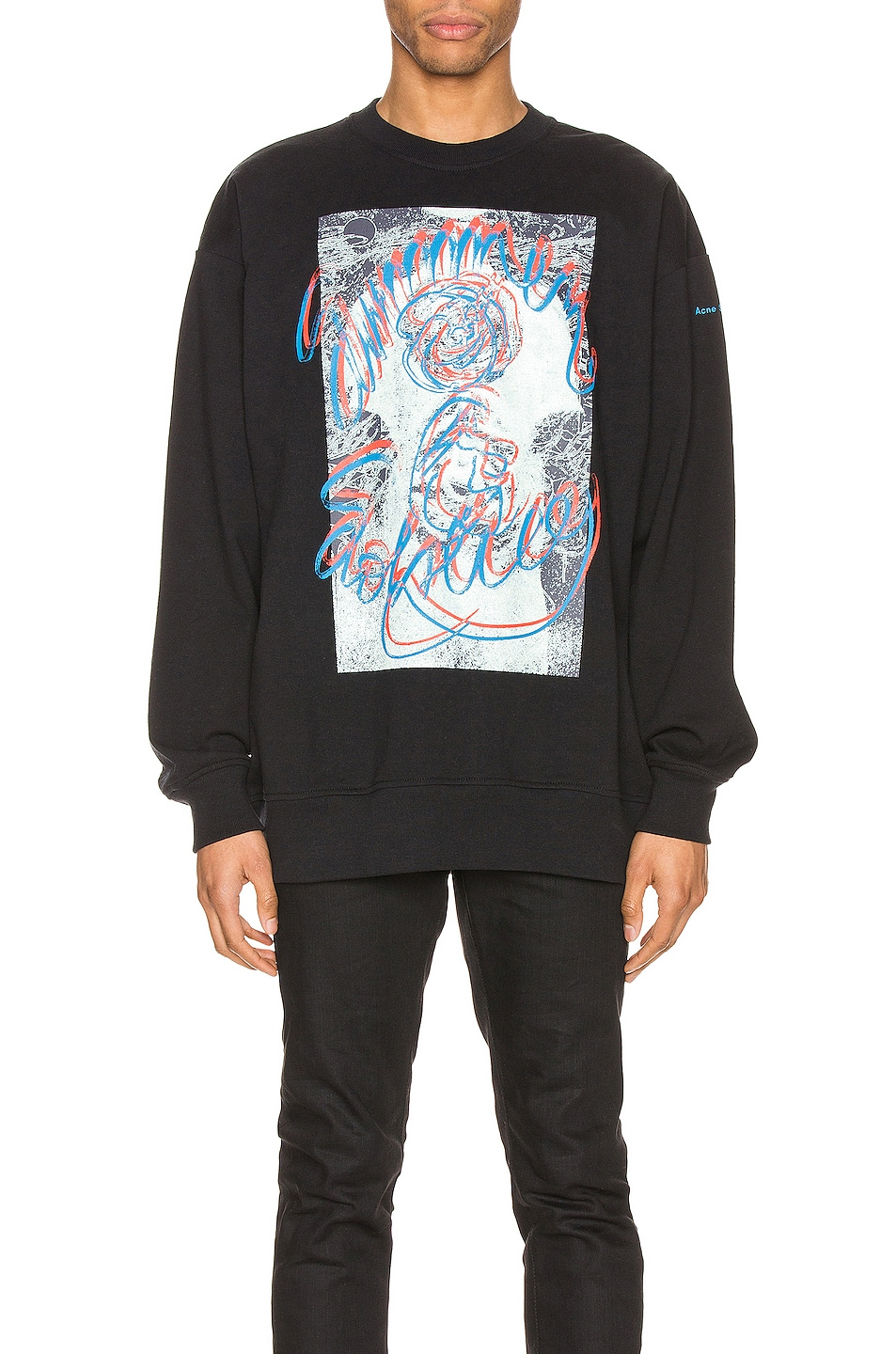 Image 1 of Acne Studios Forban Solstice Sweatshirt in Black