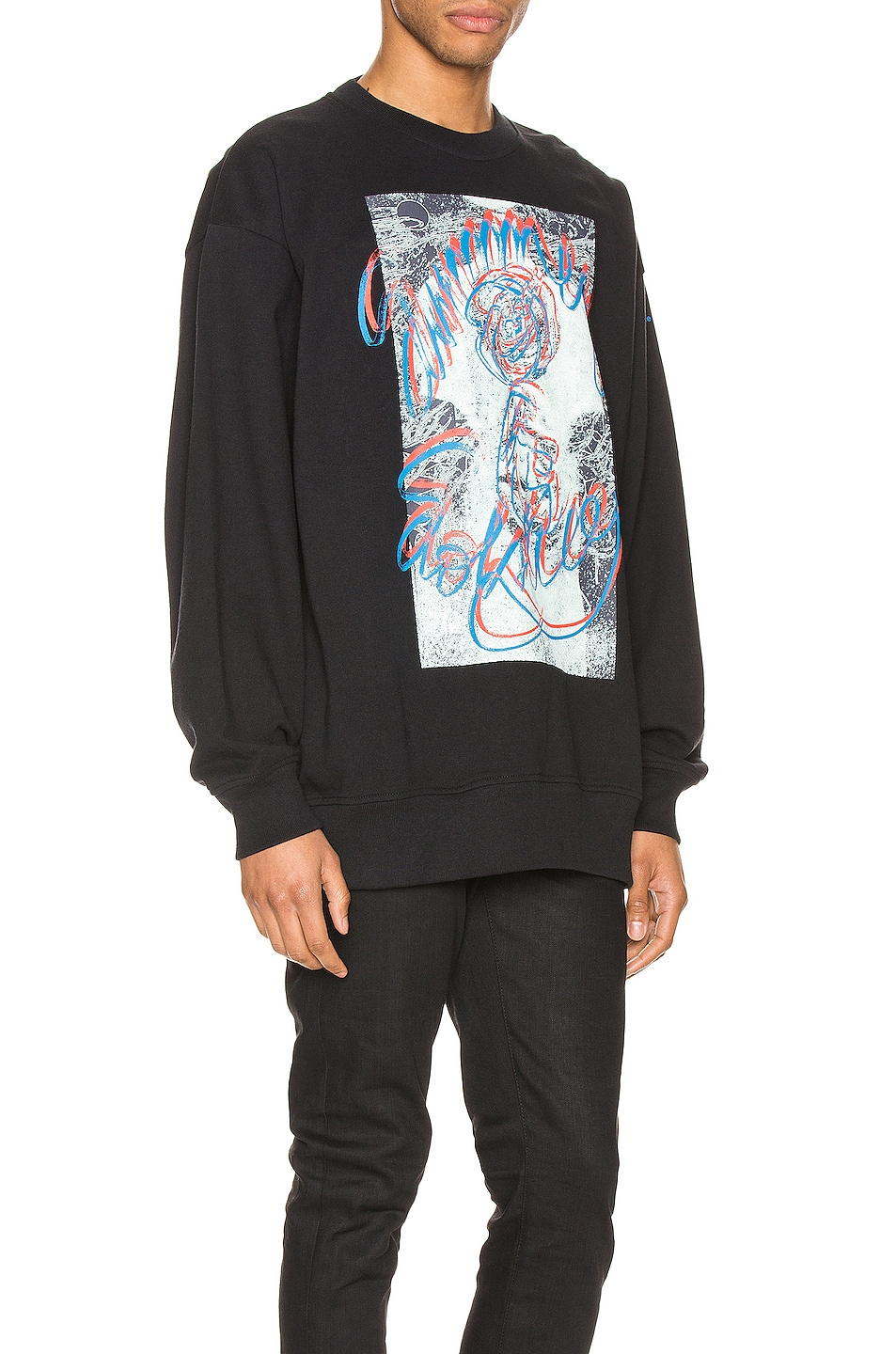 Image 2 of Acne Studios Forban Solstice Sweatshirt in Black