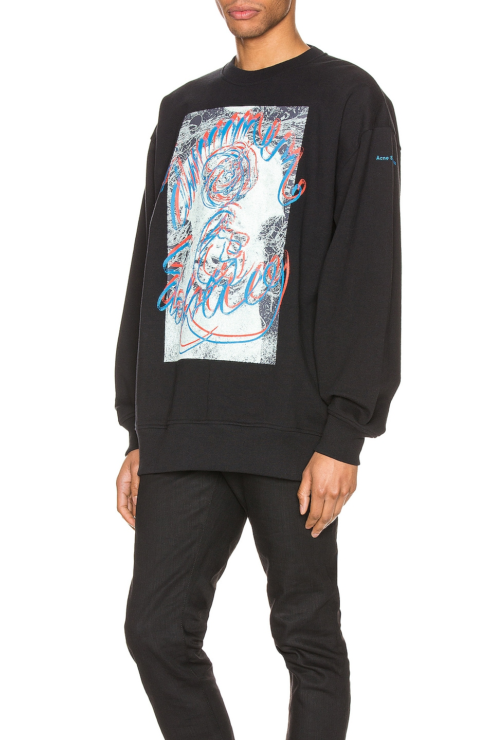 Image 3 of Acne Studios Forban Solstice Sweatshirt in Black