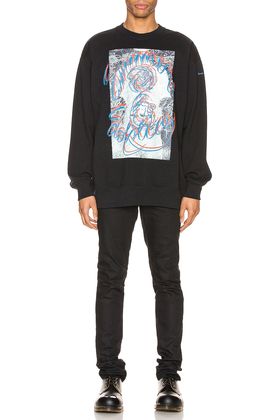 Image 5 of Acne Studios Forban Solstice Sweatshirt in Black