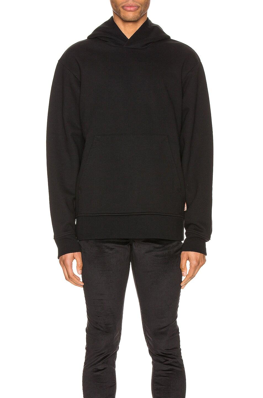 Image 1 of Acne Studios Pink Label Sweatshirt in Black