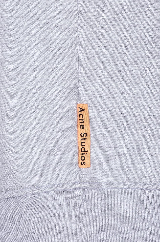 Image 5 of Acne Studios Forban Pink Label Sweatshirt in Pale Grey Melange