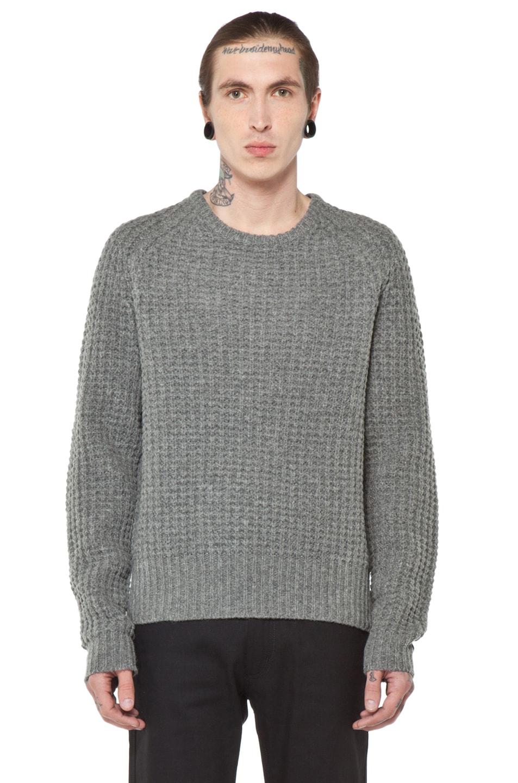 Image 1 of Acne Studios Strindberg Sweater in Grey Melange