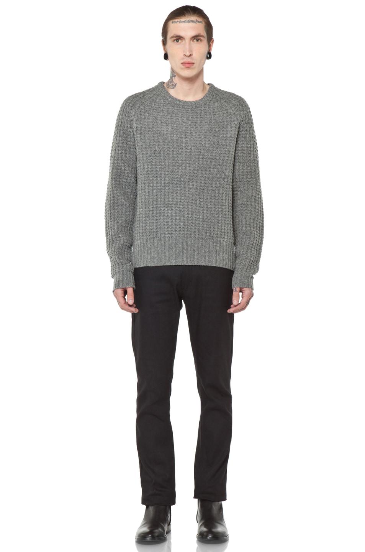 Image 5 of Acne Studios Strindberg Sweater in Grey Melange