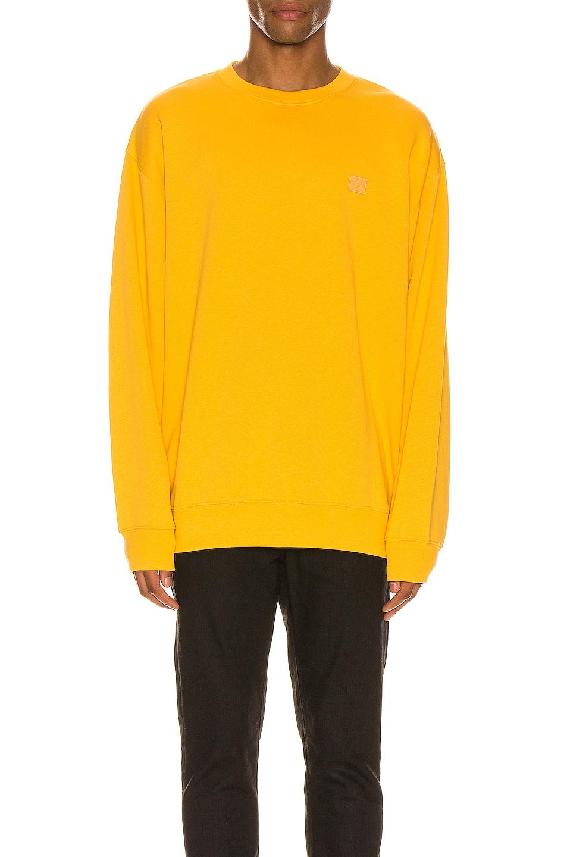 Image 1 of Acne Studios Sweatshirt in Honey Yellow