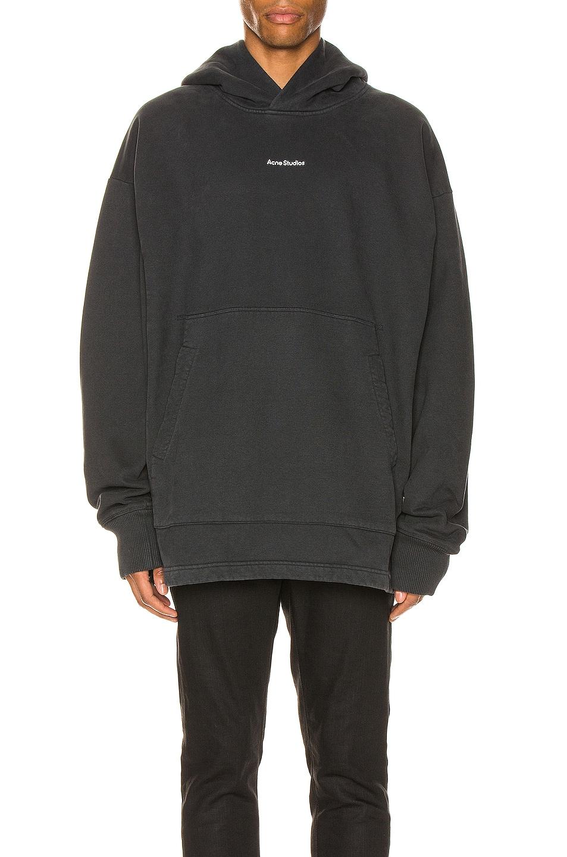 Image 1 of Acne Studios H Stamp Sweatshirt in Black