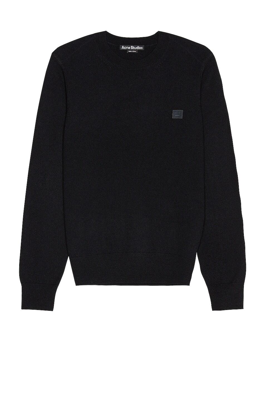 Image 1 of Acne Studios Kalon Face Sweater in Black