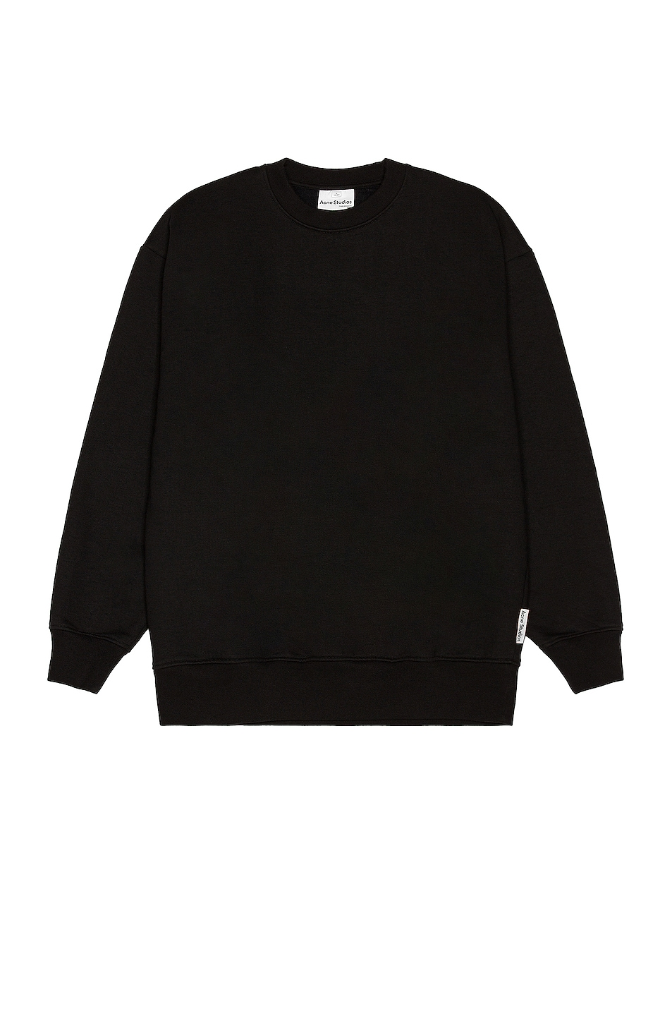 Image 1 of Acne Studios Forban Pink Label Sweatshirt in Black
