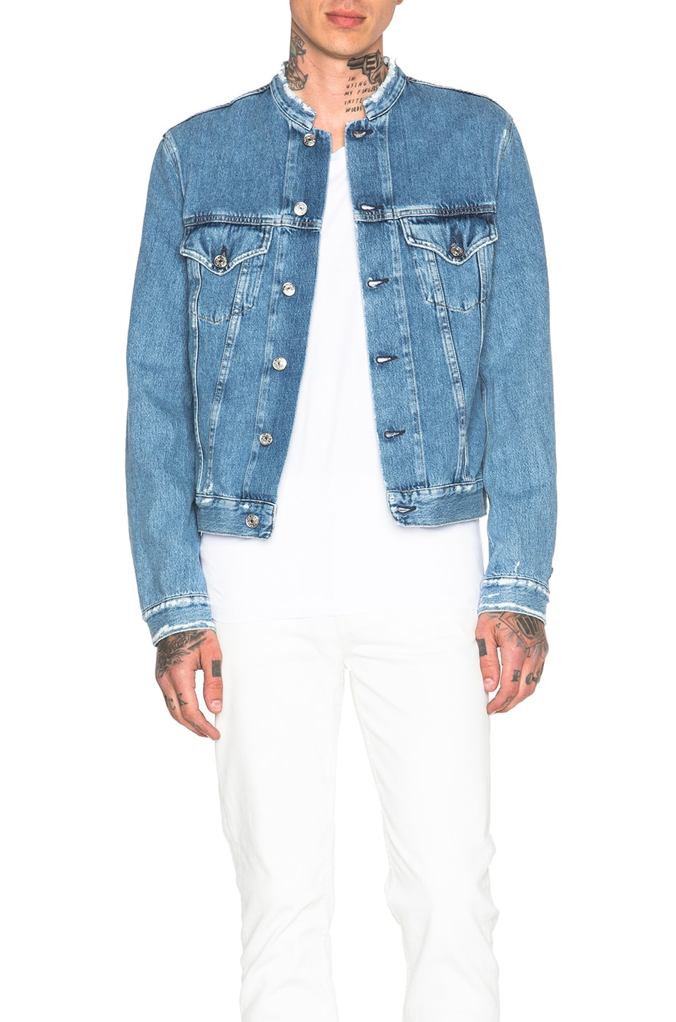 8d1c76fbba Image 1 of Acne Studios Who Frayed Denim Jacket in Indigo