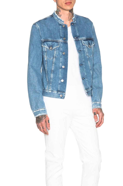 f2743b7daab Image 3 of Acne Studios Who Frayed Denim Jacket in Indigo