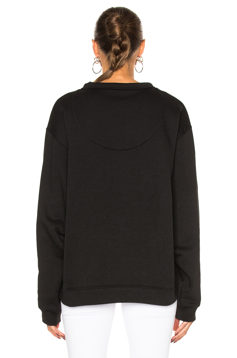 Image 4 of Acne Studios Fint Face Sweatshirt in Black