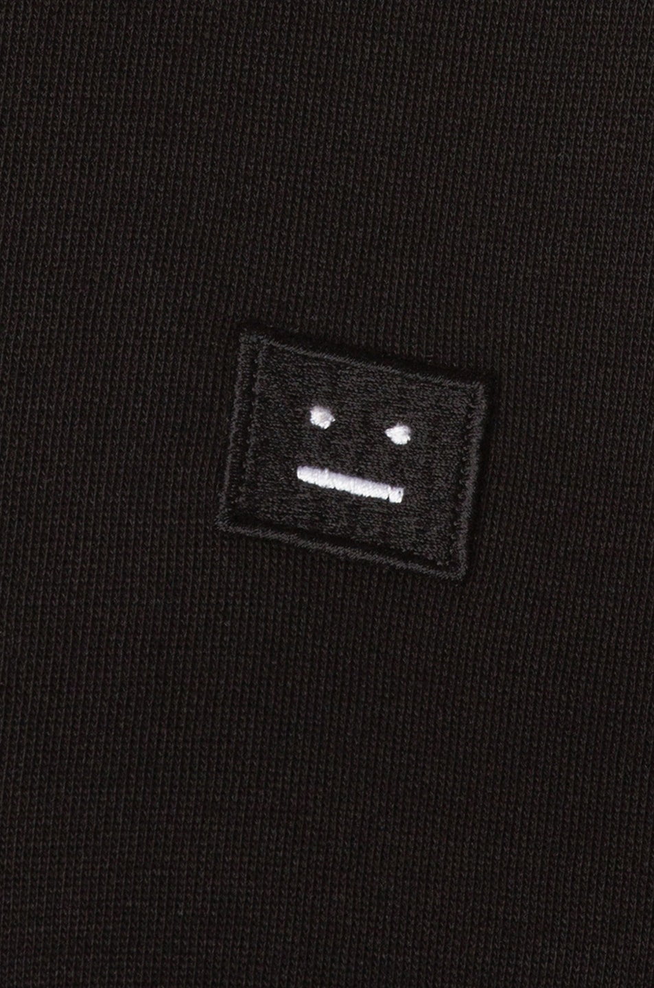 Image 6 of Acne Studios Fint Face Sweatshirt in Black